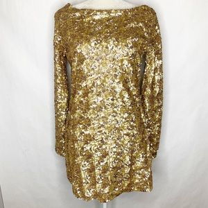 NWT Stylestalker Gold Sequin Richie Rich Dress